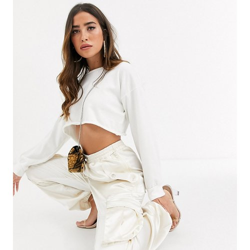 Pantalon cargo large en satin - Missguided - Modalova