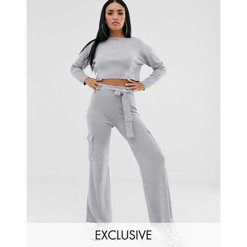 Pantalon large en maille (ensemble) - Missguided - Modalova