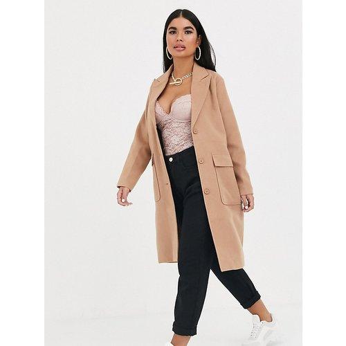 Manteau ample long - Fauve - Missguided Petite - Modalova