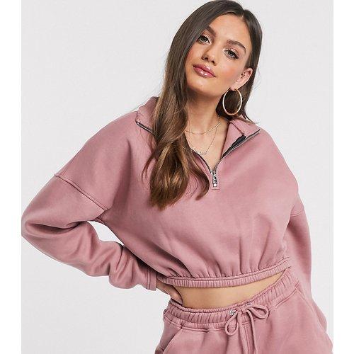 Sweat-shirt court d'ensemble zippé devant - Missguided Petite - Modalova