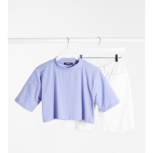 T-shirt crop top d'ensemble - Missguided Petite - Modalova