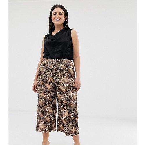 Jupe-culotte plissée à imprimé léopard - Missguided Plus - Modalova