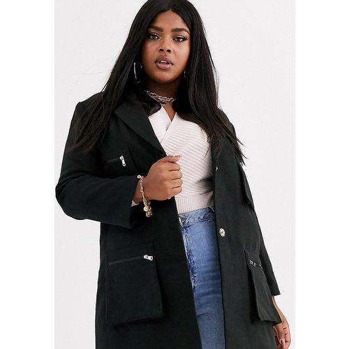 Manteau avec poches - Missguided Plus - Modalova
