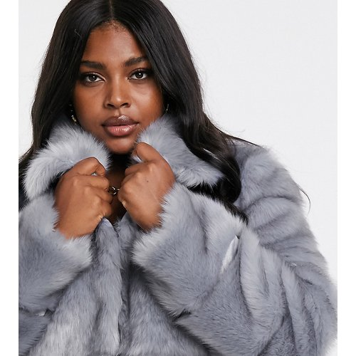 Manteau en fourrure - Missguided Plus - Modalova