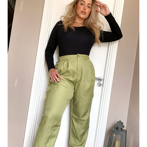 Pantalon bouffant fonctionnel - Kaki - Missguided Plus - Modalova