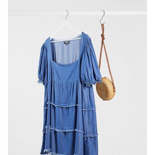Robe babydoll en jean - Missguided Plus - Modalova