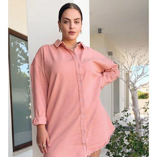 Robe chemise oversize en jean - Missguided Plus - Modalova