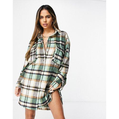 Robe chemise oversize à carreaux vichy - Missguided - Modalova