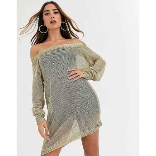 Robe en maille style Bardot - Missguided - Modalova