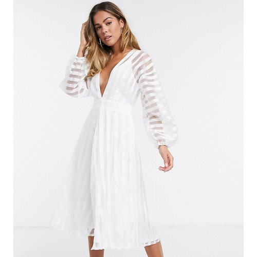 Robe mi-longue en organza - Missguided - Modalova