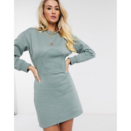 Robe sweat-shirt style corset - sauge - Missguided - Modalova