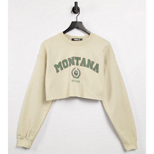 Sweat-shirt court imprimé Montana - Missguided - Modalova