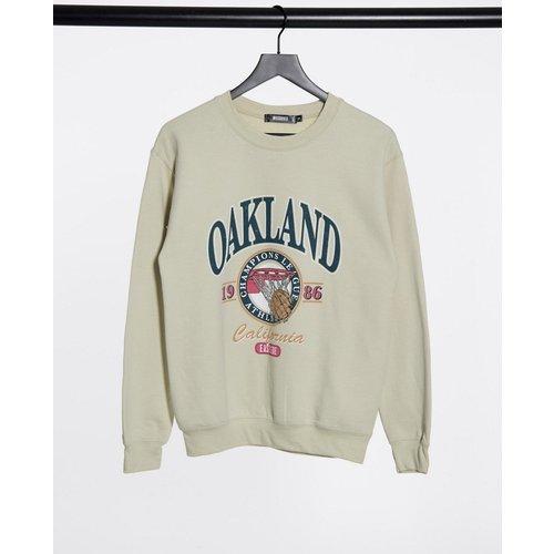Sweat-shirt oversize à imprimé graphique Oakland - Missguided - Modalova