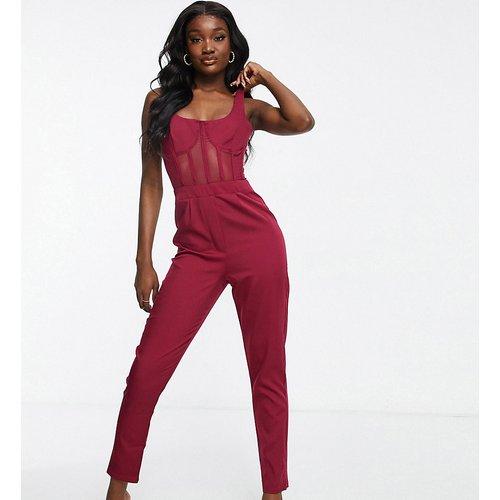 Combinaison avec détail corset - Bordeaux - Missguided Tall - Modalova
