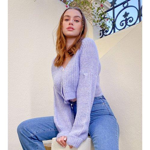 Gilet à ceinture avec manches ballon - Lilas - Missguided Tall - Modalova