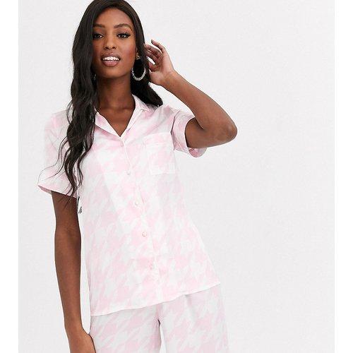 Haut de pyjama motif pied-de-poule - Missguided Tall - Modalova