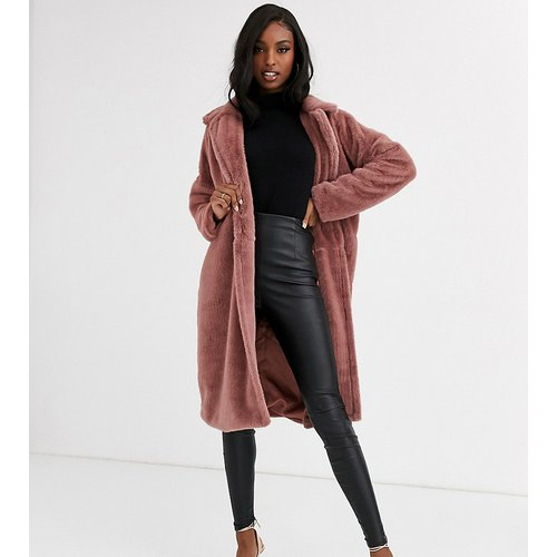 Long manteau fausse fourrure - Missguided Tall - Modalova