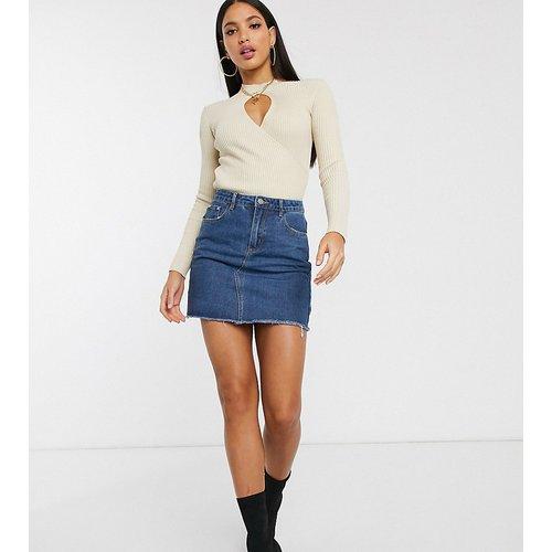 Mini-jupe trapèze en jean - Missguided Tall - Modalova
