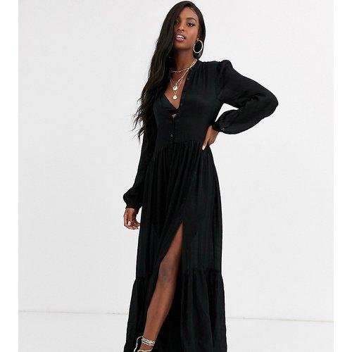 Robe chemise longue volantée - Missguided Tall - Modalova