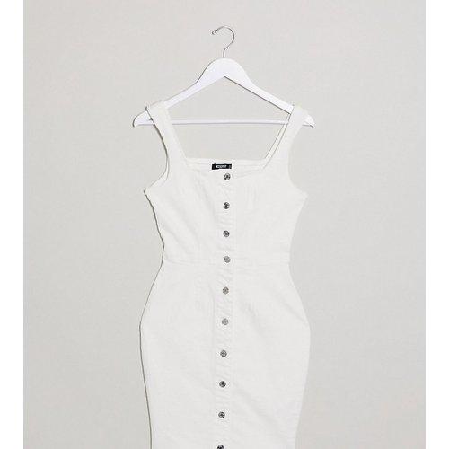 Robe en jean courte boutonnée - Écru - Missguided Tall - Modalova