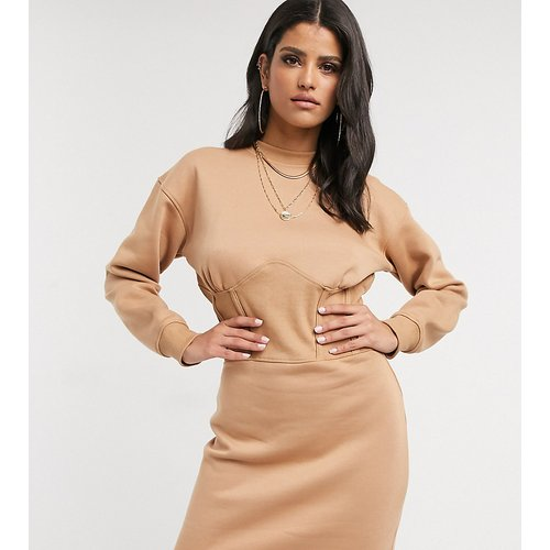 Robe sweat style corset - Camel - Missguided Tall - Modalova
