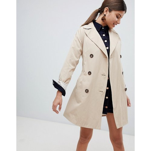 Trench-coat classique - Taupe - Missguided - Modalova