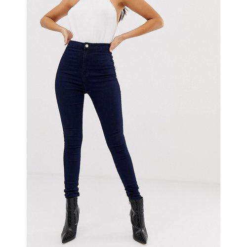 Vice - Jean skinny taille haute super stretch - Bleu marine - Missguided - Modalova