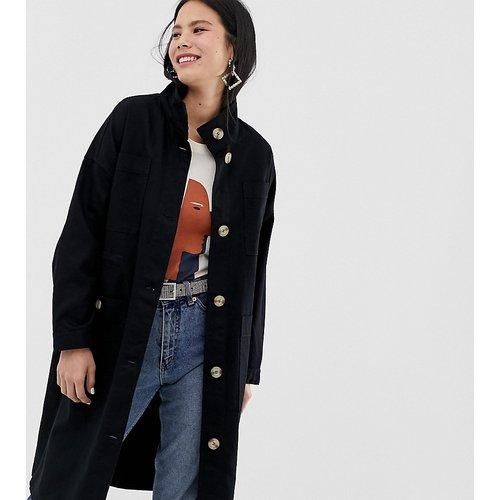 Manteau léger mi-long à poches oversize - Monki - Modalova