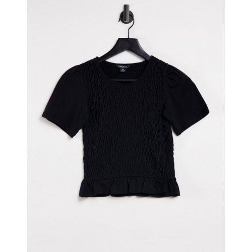 Monki - T-shirt crop top - Noir - Monki - Modalova