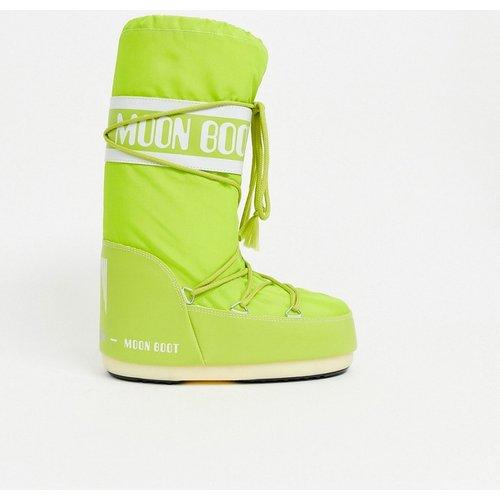 Bottes de neige emblématiques en nylon - fluo - moon boot - Modalova