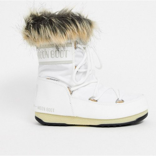 Monaco - Bottes de neige bordées de fausse fourrure - moon boot - Modalova