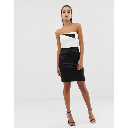Robe fourreau style bandeau monochrome - Morgan - Modalova