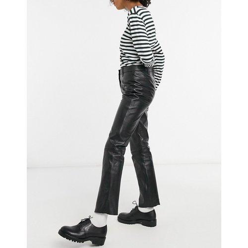 Pantalon taille haute ajusté en cuir - Muubaa - Modalova