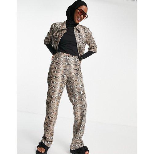 Pantalon taille haute large coupe carrée à imprimé serpent - Muubaa - Modalova