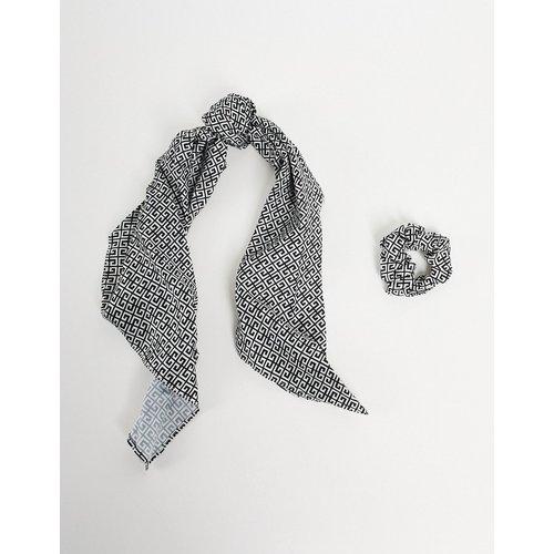 London - Lot chouchou et bandana à monogramme - My Accessories - Modalova