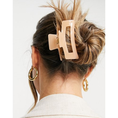Pince à cheveux carrée - Pêche - My Accessories - Modalova