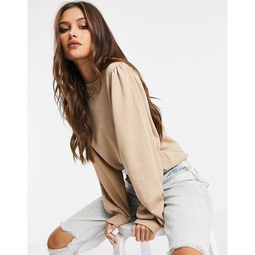 Sweat-shirt à manches bouffantes - Fauve - NA-KD - Modalova