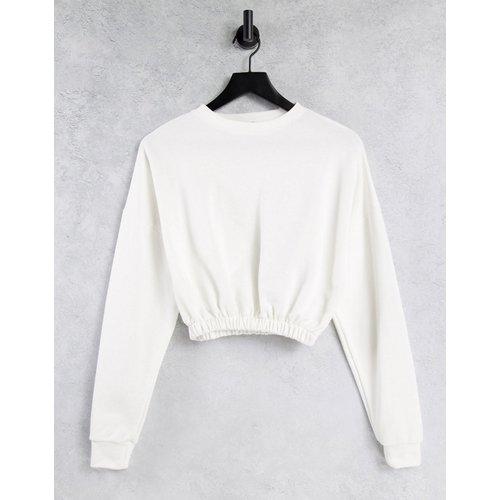 Sweat-shirt court - Écru - NaaNaa - Modalova