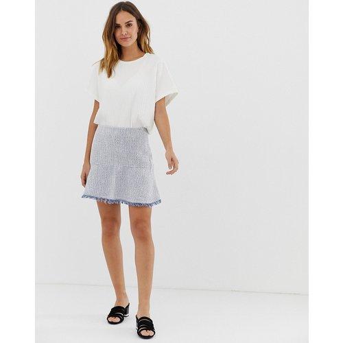 Mini-jupe trapèze en maille avec franges - Naf Naf - Modalova