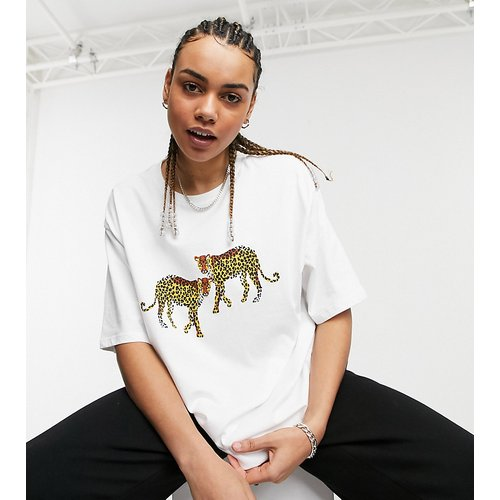 Big Boy - T-shirt oversize à imprimé léopard - Native Youth - Modalova