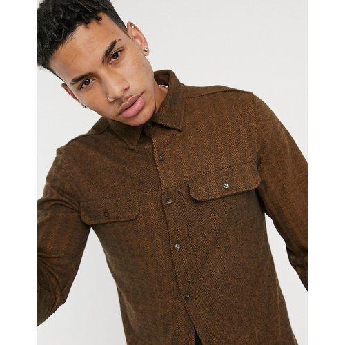Chemise en coton rayée à coupe décontractée (ensemble) - Kaki - Native Youth - Modalova