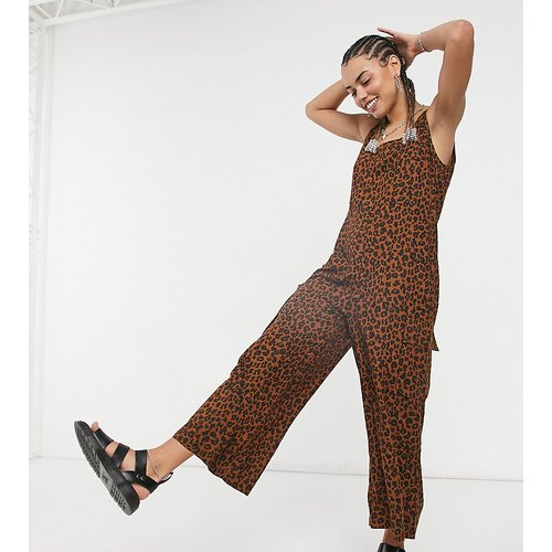 Combinaison salopette oversize nouée aux épaules à imprimé léopard - Native Youth - Modalova