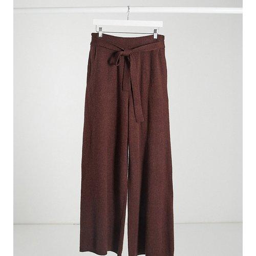 Pantalon large décontracté d'ensemble noué à la taille - Châtaigne - Native Youth - Modalova