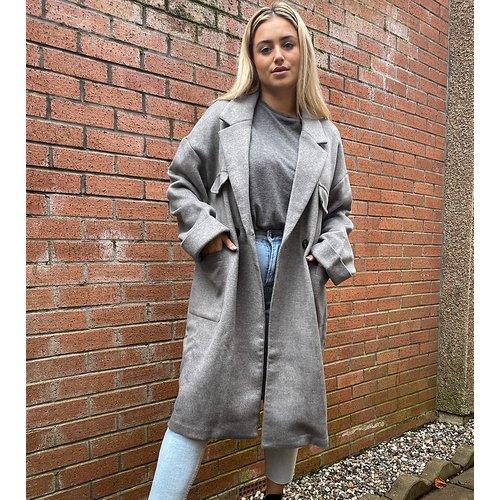Manteau long décontracté à poches plaquées - Native Youth Plus - Modalova