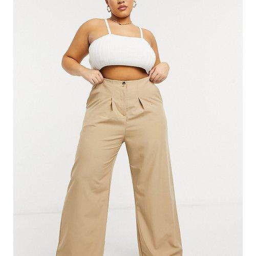 Pantalon ultra ample à taille haute plissée - Native Youth Plus - Modalova