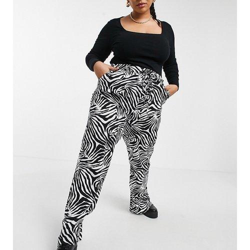 Pantalon ultra large à imprimé zébré - Native Youth Plus - Modalova