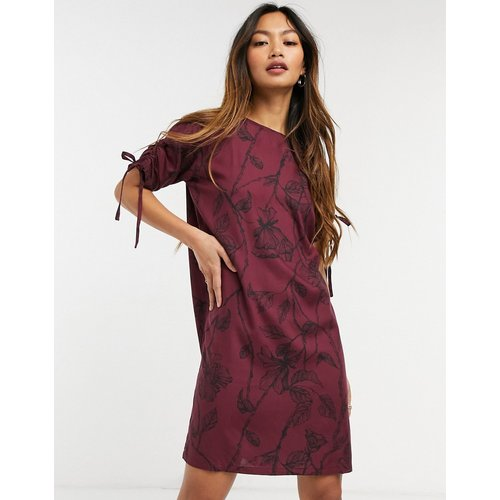 Robe t-shirt oversize - Bordeaux - Native Youth - Modalova
