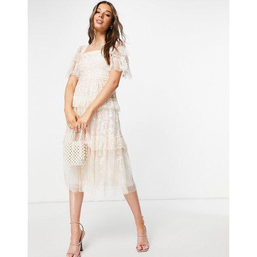 Arwen - Robe mi-longue style milkmaid en dentelle - Needle & Thread - Modalova