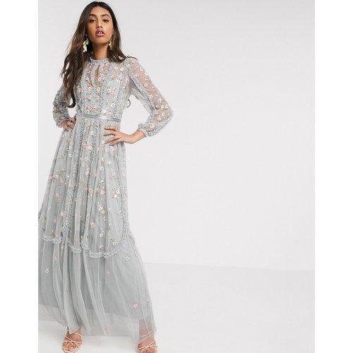 Robe longue avec roses brodées - Needle & Thread - Modalova