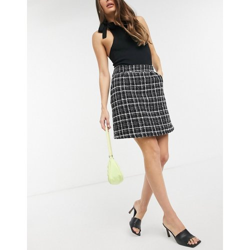 Mini-jupe en tweed - Neon Rose - Modalova
